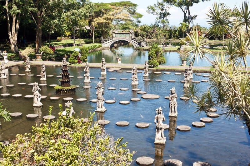 Palacio del agua de Tirtagangga, Bali foto de archivo