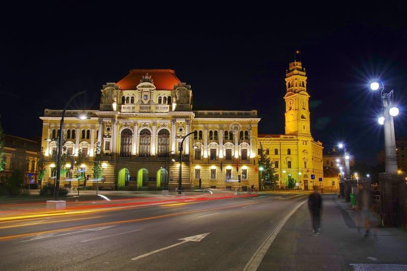 Palacio del ayuntamiento de la ciudad en Oradea 4 imagenes de archivo