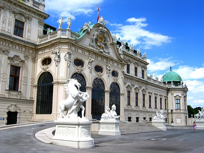 Palacio del belvedere en Viena fotos de archivo