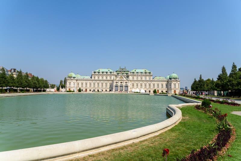 Palacio del belvedere en Viena fotografía de archivo libre de regalías
