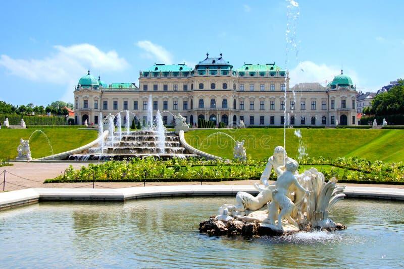 Palacio del belvedere, Viena fotografía de archivo libre de regalías