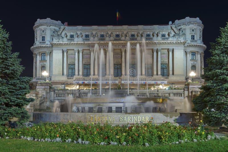 Palacio del círculo militar nacional en la noche imagen de archivo libre de regalías