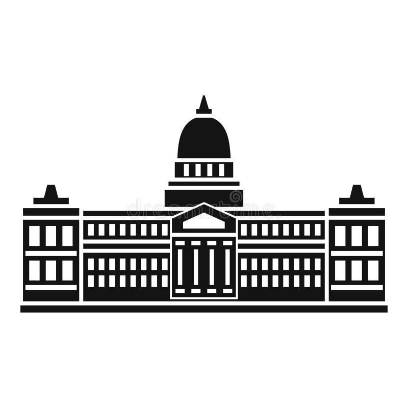 Palacio del congreso, icono de la Argentina, estilo simple stock de ilustración
