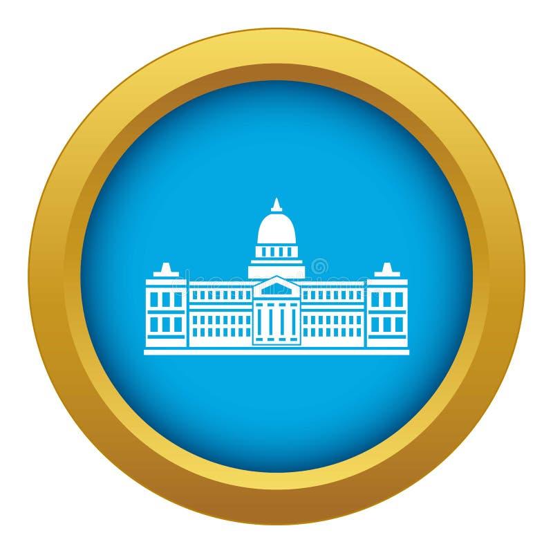 Palacio del congreso, vector azul del icono de la Argentina aislado ilustración del vector