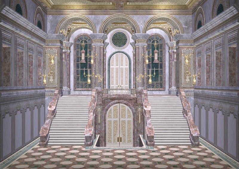 Palacio del cuento de hadas ilustración del vector