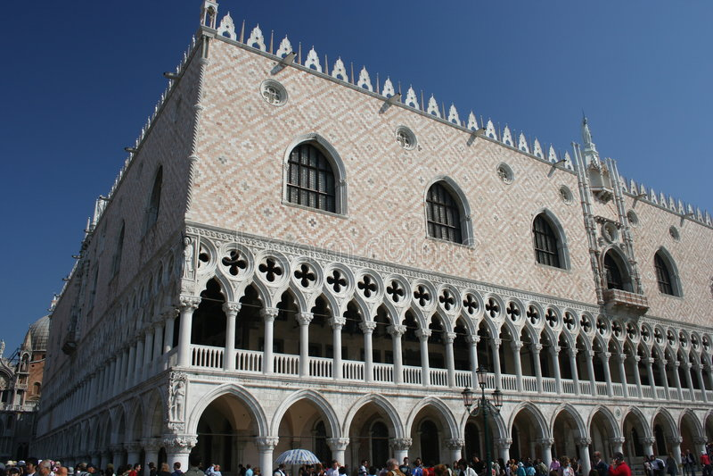 Palacio del dux, Venecia, Italia fotos de archivo libres de regalías