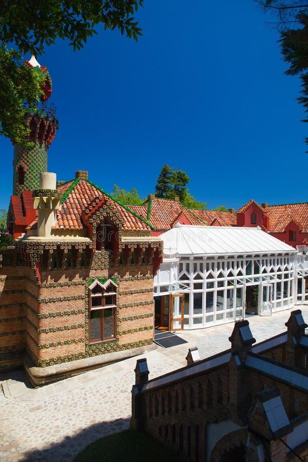 Palacio del EL Capricho del arquitecto Gaudi, Comillas, España foto de archivo libre de regalías
