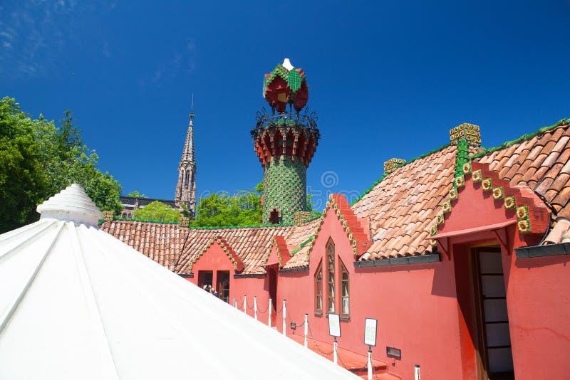 Palacio del EL Capricho del arquitecto Gaudi, Comillas, España fotos de archivo