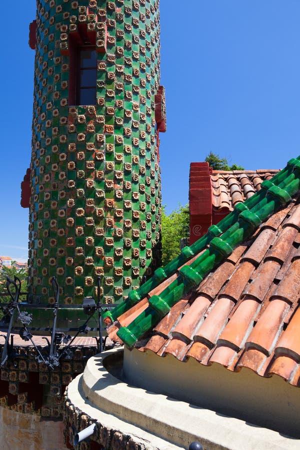 Palacio del EL Capricho del arquitecto Gaudi, Comillas, España fotos de archivo libres de regalías