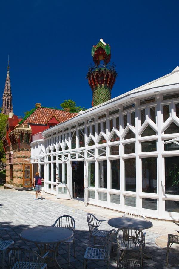 Palacio del EL Capricho del arquitecto Gaudi, Comillas, Espa?a imagenes de archivo