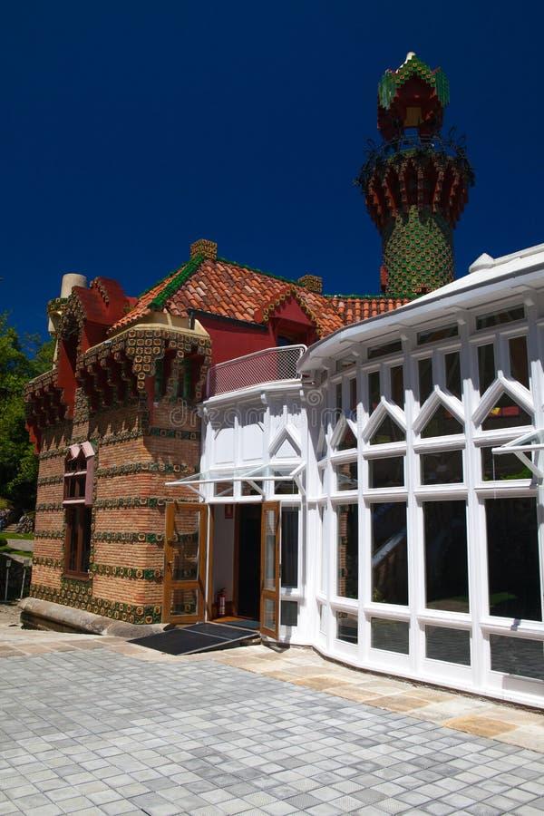 Palacio del EL Capricho del arquitecto Gaudi, Comillas, Espa?a imágenes de archivo libres de regalías