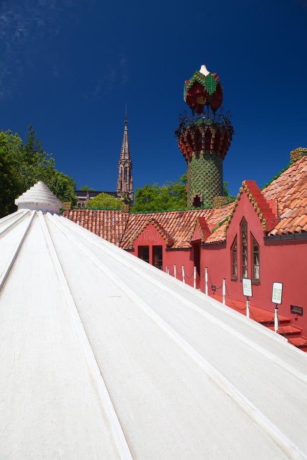 Palacio del EL Capricho del arquitecto Gaudi, Comillas, Espa?a imagen de archivo