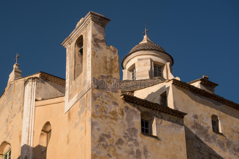 Palacio del gobernador, Calvi, Córcega foto de archivo libre de regalías