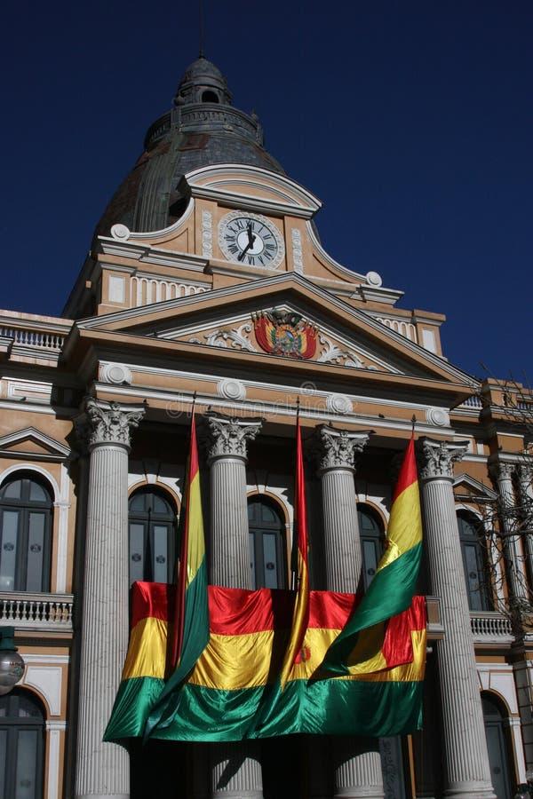 Palacio del gobierno de Bolivia en el La Paz fotos de archivo