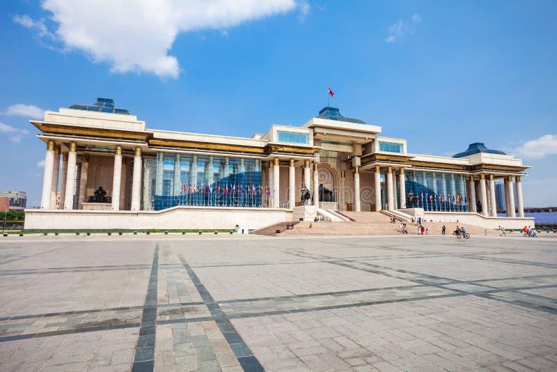 Palacio del gobierno en Ulaanbaatar imagenes de archivo