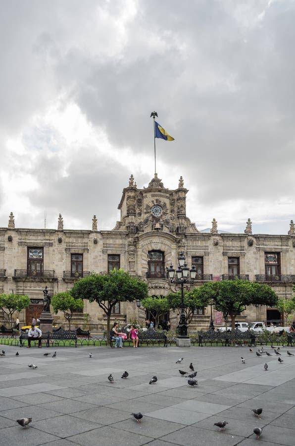 Palacio del gobierno Guadalajara, México imagen de archivo libre de regalías