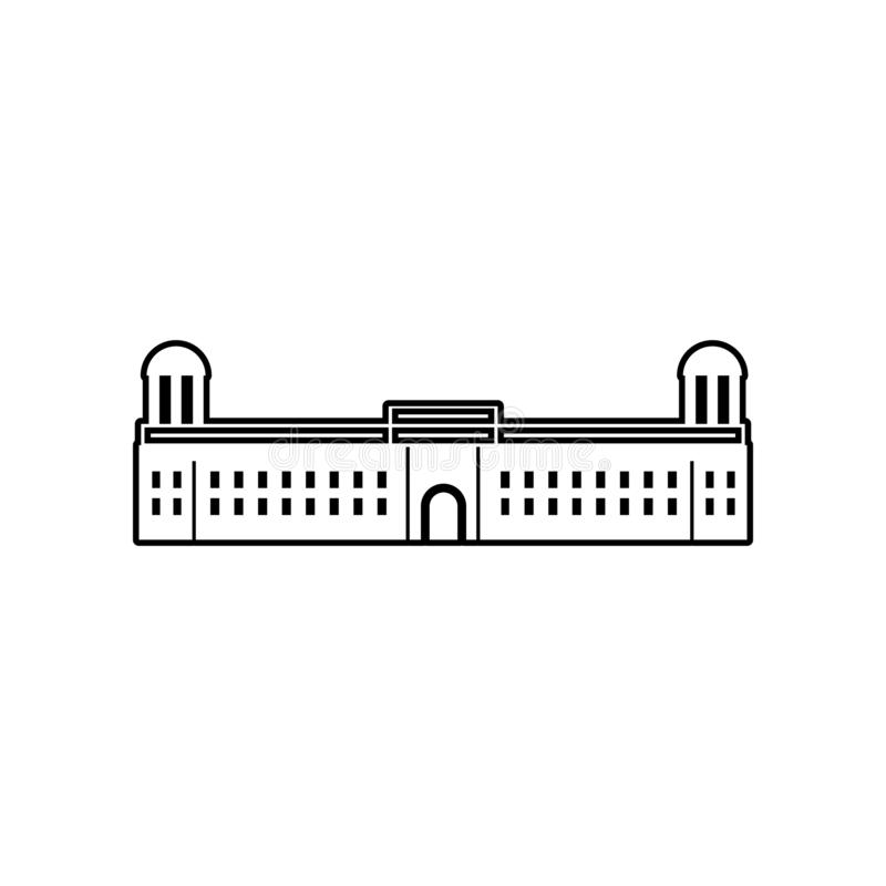 palacio del icono de la India Elemento de la India para el concepto y el icono m?viles de los apps de la web Esquema, l?nea fina  ilustración del vector
