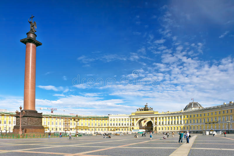Palacio del invierno de la visión en St Petersburg fotos de archivo libres de regalías