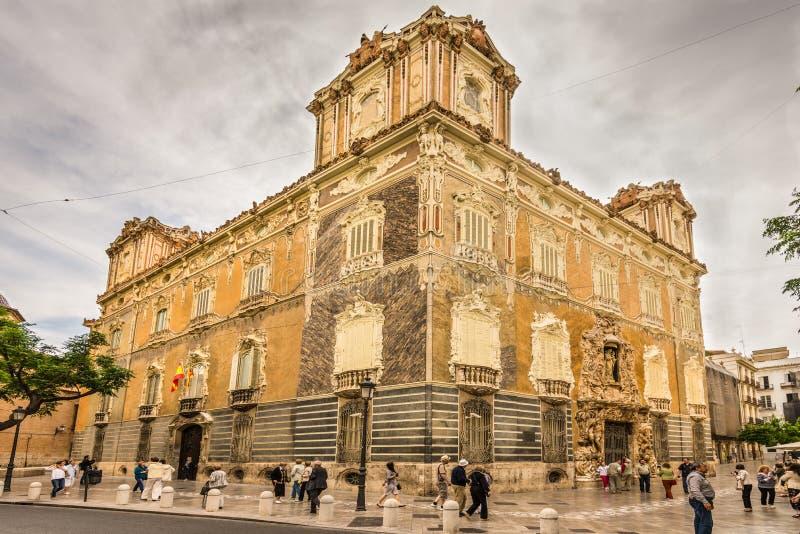 Palacio Del Marques de Dos Aguas, także znać jako obywatel obraz stock