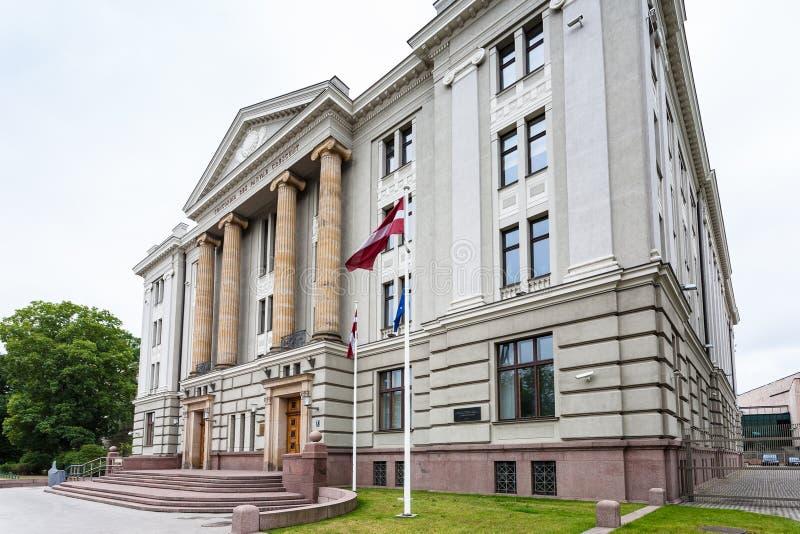 Palacio del Ministerio de Asuntos Exteriores de Letonia fotos de archivo libres de regalías