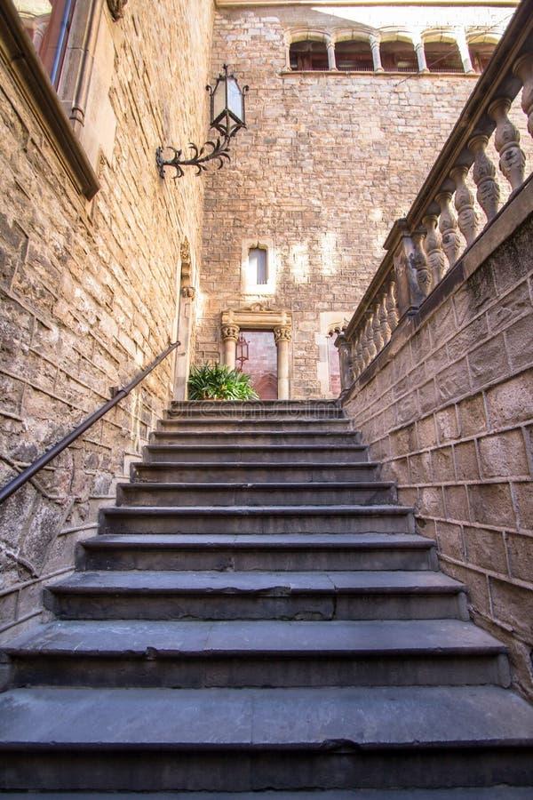 Palacio del obispo - Palau de episcopal Barcelona fotos de archivo libres de regalías