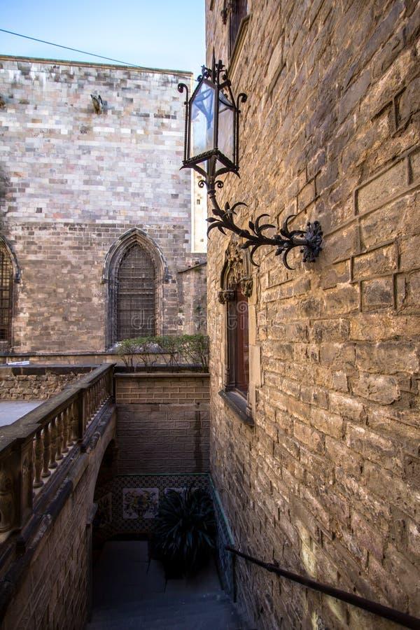 Palacio del obispo - Palau de episcopal Barcelona fotografía de archivo libre de regalías