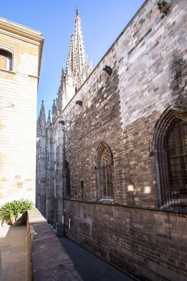 Palacio del obispo - Palau de episcopal Barcelona fotos de archivo