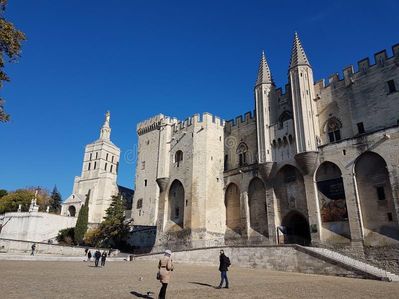 Palacio del papa en Avignon fotos de archivo libres de regalías