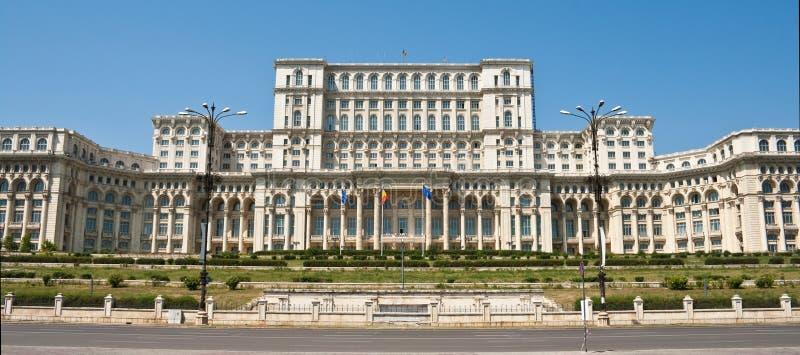 Palacio del parlamento, Bucarest Rumania fotografía de archivo