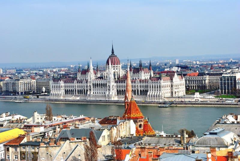 Palacio del parlamento de Budapest foto de archivo libre de regalías