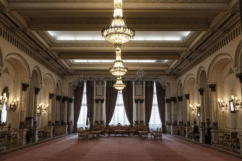 Palacio del parlamento rumano fotos de archivo libres de regalías