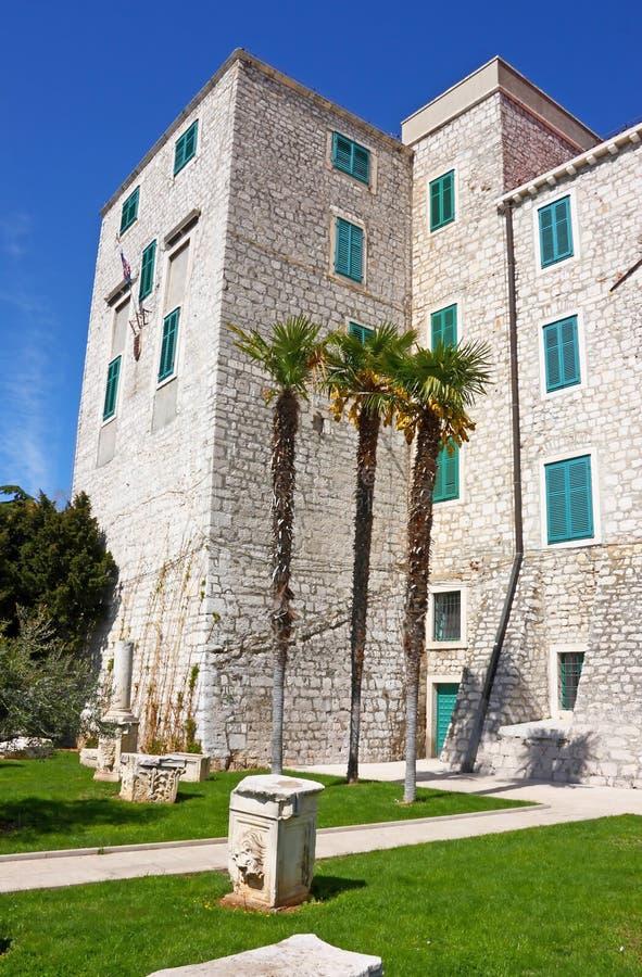 Palacio del rector, Sibenik fotos de archivo