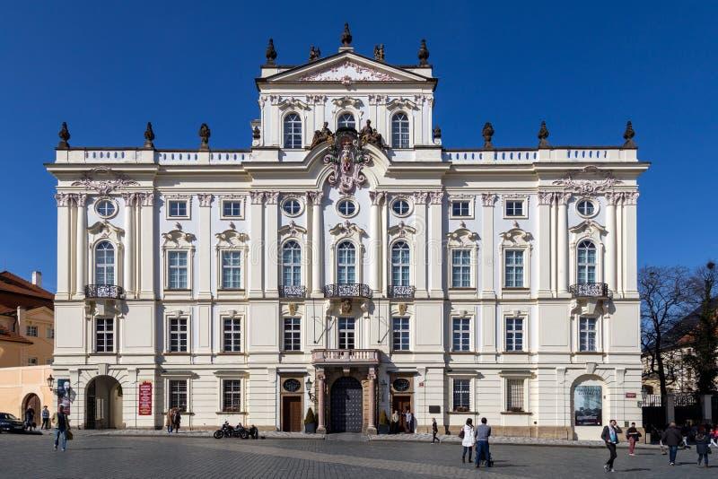 Palacio del ` s del arzobispo en Praga foto de archivo libre de regalías