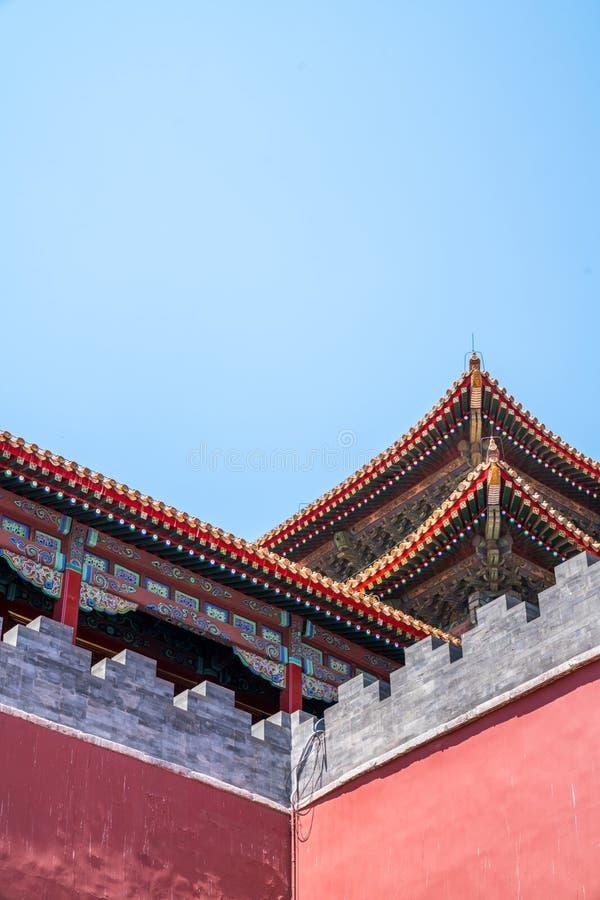 Palacio del ` s de China en la esquina de fotos de archivo libres de regalías