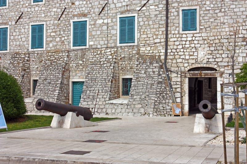 Palacio del ` s del rector, Sibenik imagen de archivo