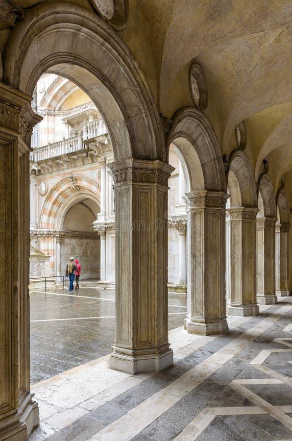 Palacio del ` s del dux en Venecia, Italia foto de archivo libre de regalías