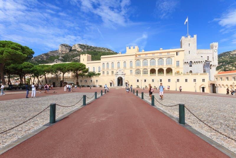 Palacio del ` s del príncipe de Mónaco imagenes de archivo