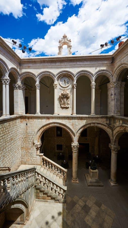 Palacio del ` s del rector, Dubrovnik, Croacia fotografía de archivo