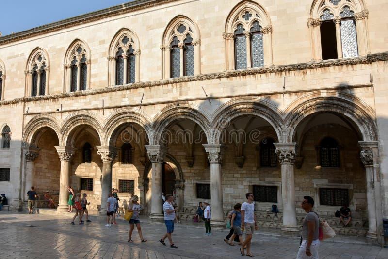 Palacio del ` s del rector en Dubrovnik foto de archivo