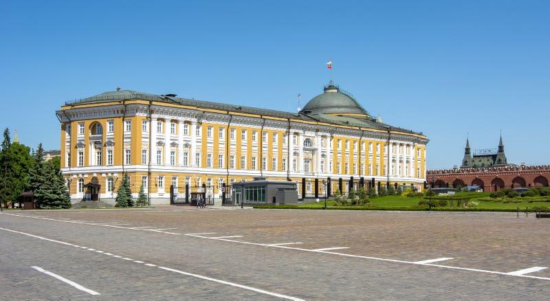 Palacio del senado del Kremlin en Moscú, Rusia imagen de archivo