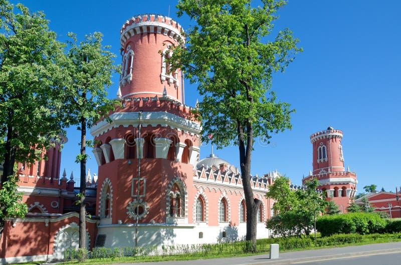 Palacio del viaje de Petrovsky en Moscú, Rusia foto de archivo