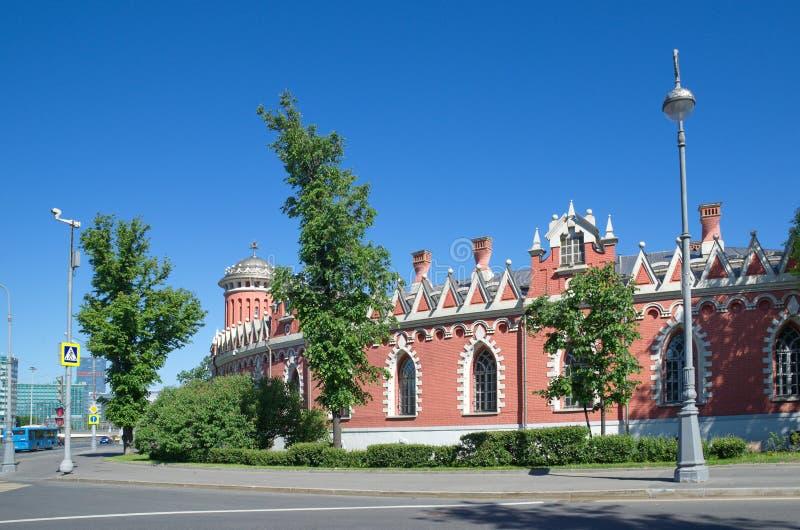 Palacio del viaje de Petrovsky, Moscú, Rusia imagen de archivo libre de regalías