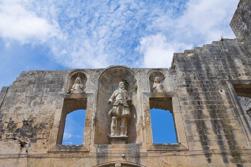 Palacio ducal de Castromediano-Limburgo. Cavallino. Puglia. Italia. imagen de archivo