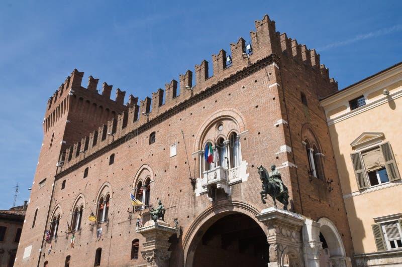 Palacio ducal. Ferrara. Emilia-Romagna. Italia. imagenes de archivo