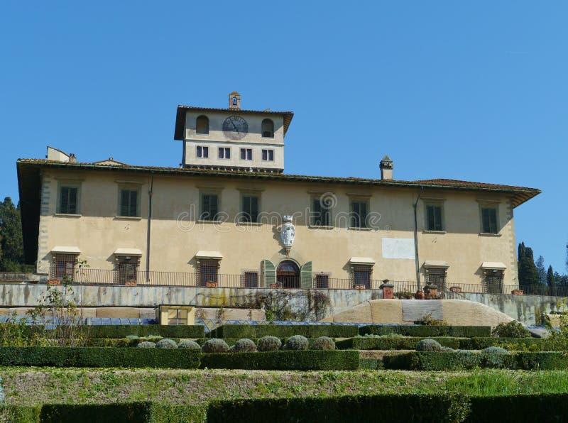 Palacio en Castello en Italia foto de archivo