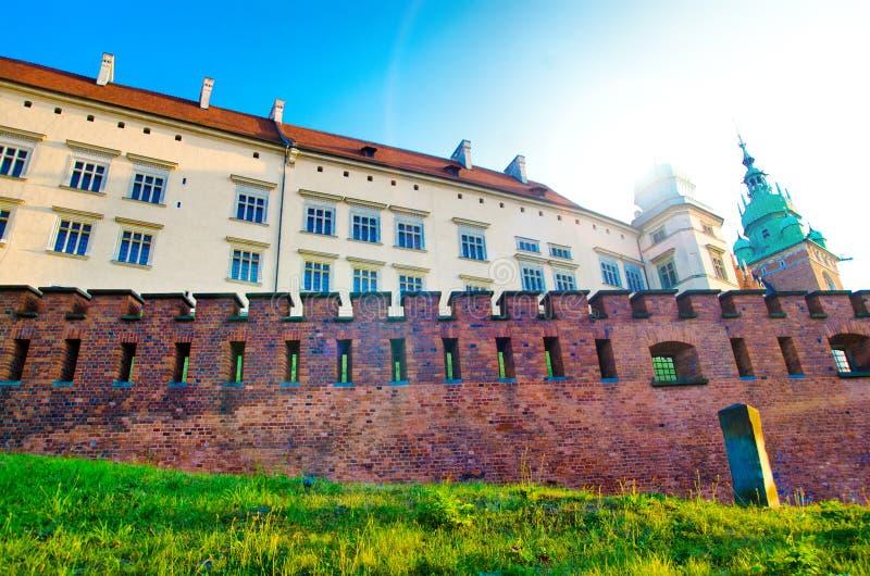 Palacio en Kraków imagen de archivo