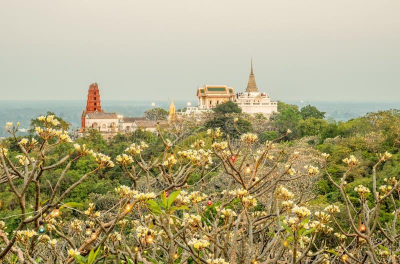 Palacio en la colina en Petchaburi foto de archivo libre de regalías