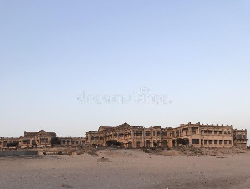 Palacio en la playa fotografía de archivo libre de regalías