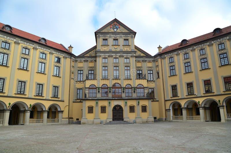 Palacio en Nesvizh foto de archivo