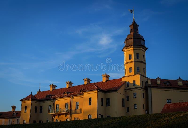 Palacio en Nesvizh imagen de archivo
